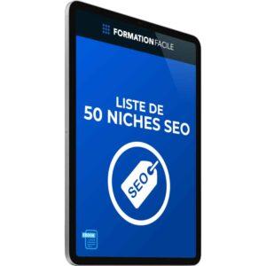 Liste de 50 niches SEO